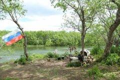 лагерь... флаг весит со дня России
