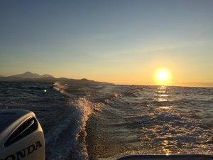 Восход солнца над Тихим Океаном
