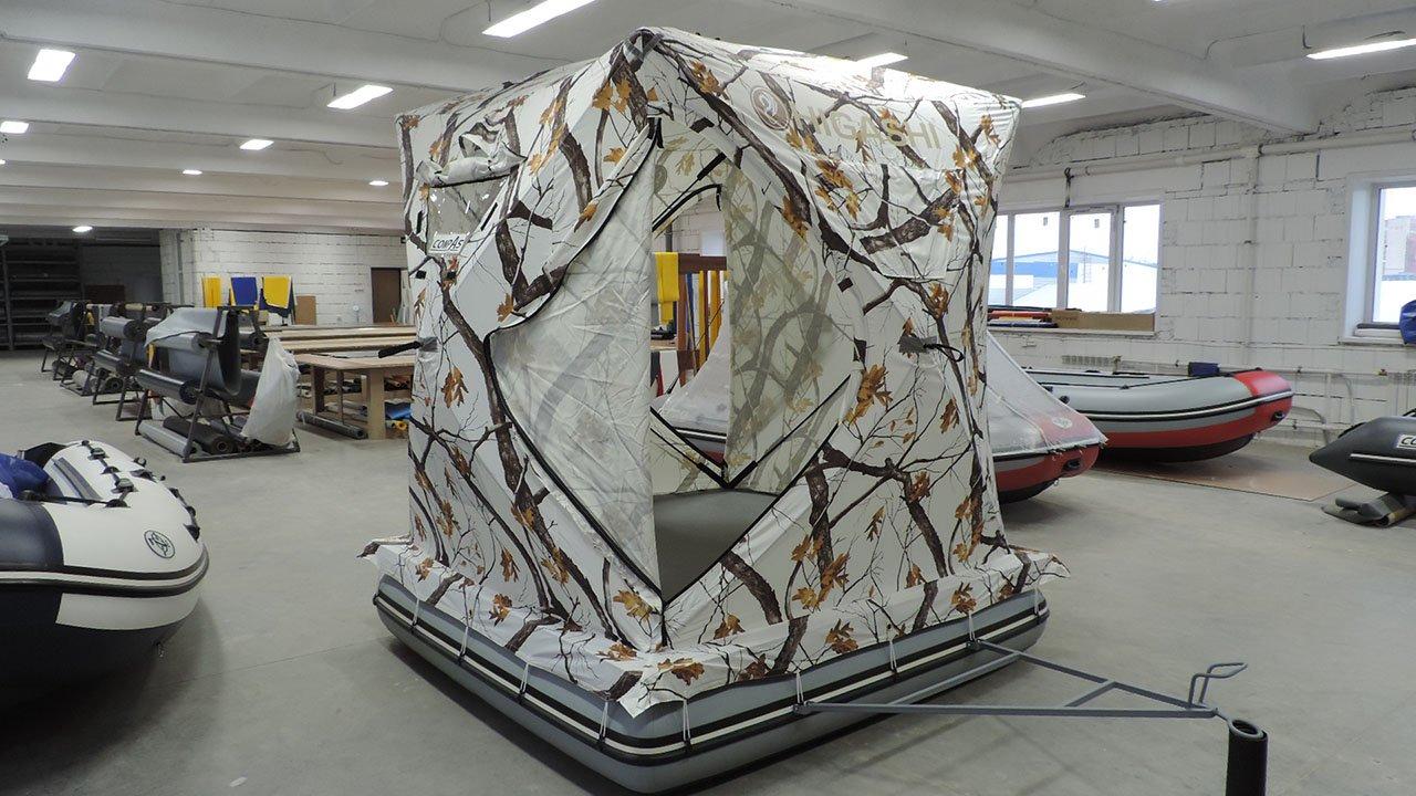 Зимняя палатка на надувной платформе