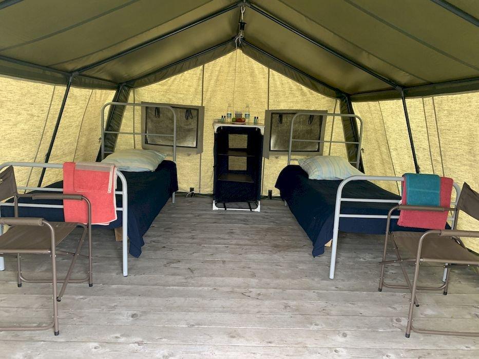 Комфортные палатки на рыбалке на Севере Камчатки.JPG